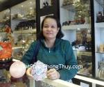 Chị Hiền – khách hàng mua quả cầu thạch anh hồng DT233  và bát quái đồng âm dương màu trung K1223 - T.H.S