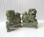 Vật phẩm giúp trừ tà- Sư tử đá Lam Ngọc M050 - T.H.S