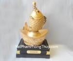 Linh vật tài lộc dồi dào- Cá chép trên đỉnh vàng H300G - T.H.S